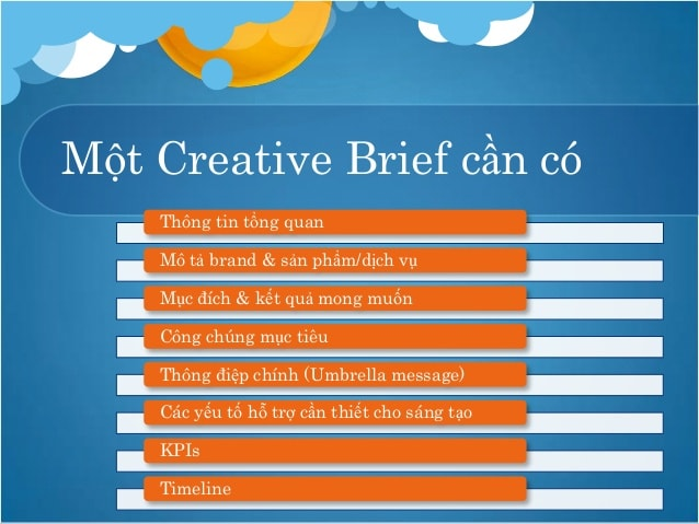 Creative brief mẫu 1