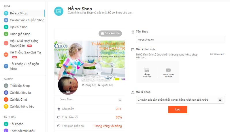 Cách bán hàng trên Shopee - Bước 2: Tạo lập gian hàng để bán hàng trên Shopee