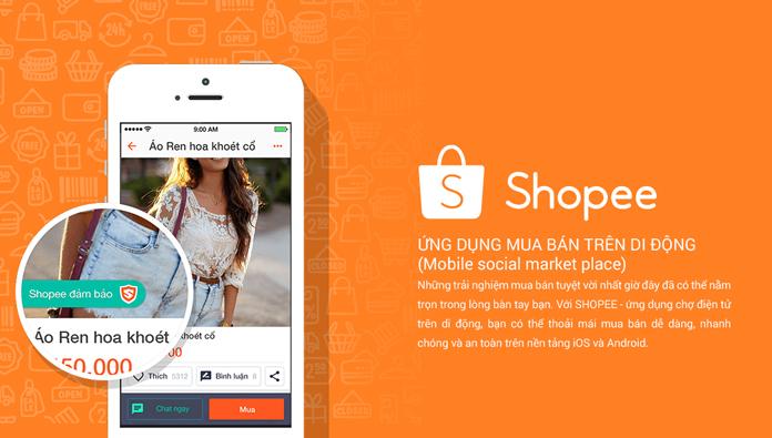cách bán hàng trên Shopee - bán hàng trên di động