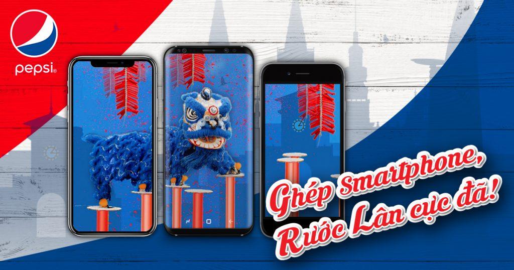 """""""Rước lân cùng Pepsi"""" - App được ra mắt trong chiến dịch tết Pepsi Muối"""