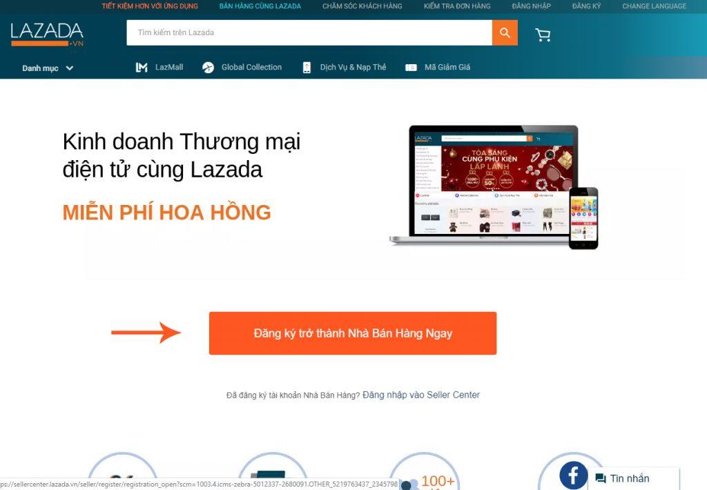 Các bước đăng ký bán hàng trên Lazada