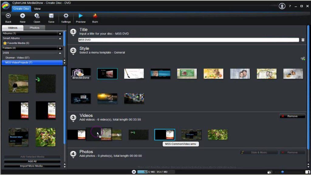 Phần mềm làm video miễn phí CyberLink MediaShow