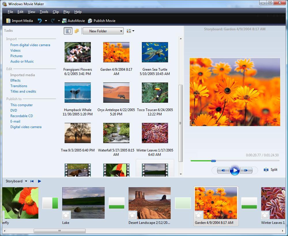 Phần mềm làm video miễn phí Microsoft Movie Maker