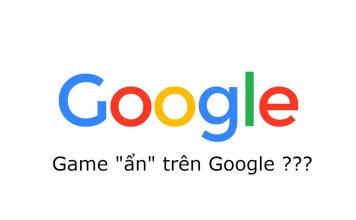 Những game ẩn trên google