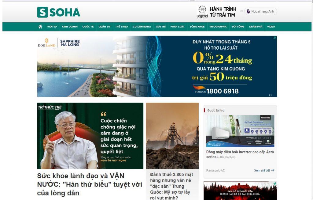 báo điện tử soha News