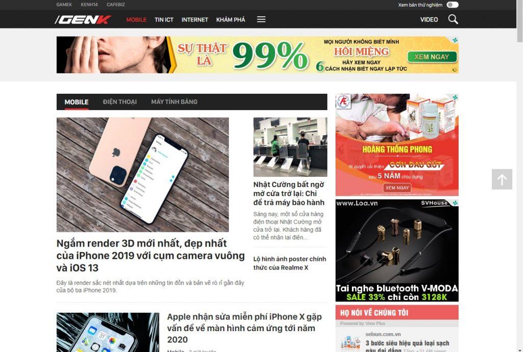 Chuyên mục mobile của GenK