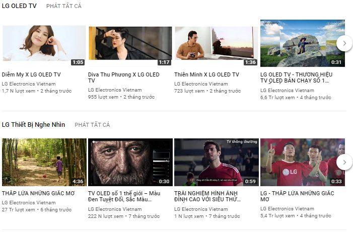 chiến lược video marketing của  LG